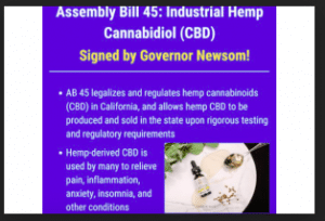 California Governor Signs Bill Legalizing Smokable Hemp And Sale Of CBD-Infused Foods And Drinks
