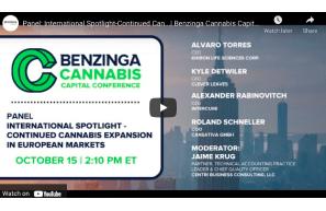 Panel: International Spotlight Cannabis In European Markets | Benzinga Cannabis Capital Conference | October 2021