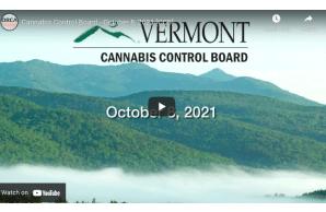 Vermont: Cannabis Control Board - October 8, 2021 [CCB]