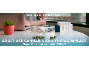 New York State Department of Labor publishes guidance regarding legalized recreational Cannabis use and the workplace
